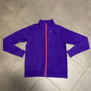 Nike Dri-fit Purple/Pink Full Zip Track Jacket